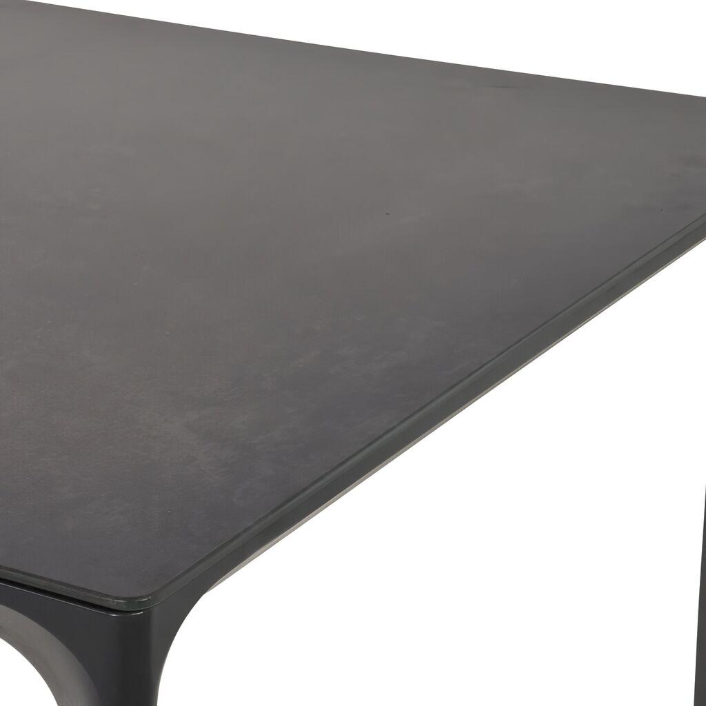 Gartentisch Mit Keramik Platte Schwarz Anthrazit