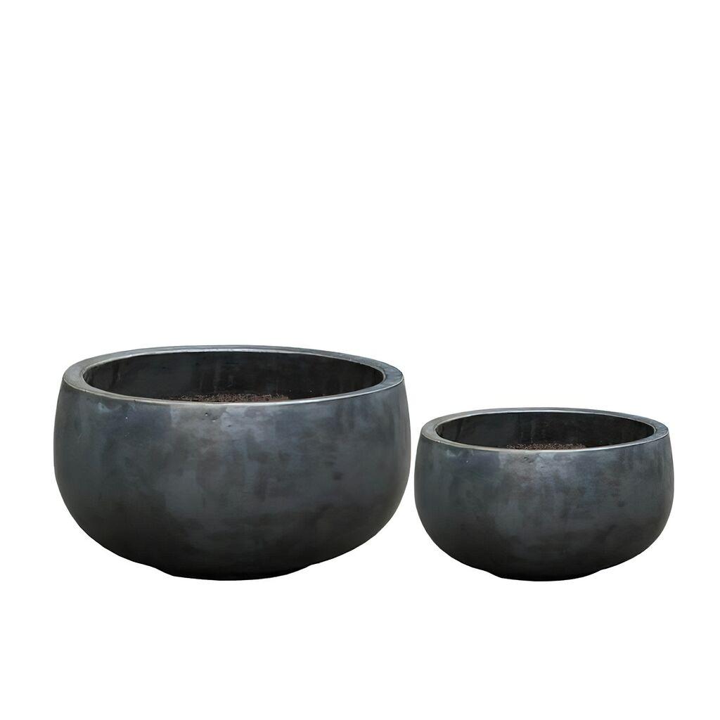 Outdoor Pflanzschale 2er Set Keramik