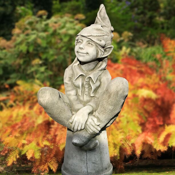 Kleine gartenelfe susan steinguss winterfest for Blumentopf winterfest