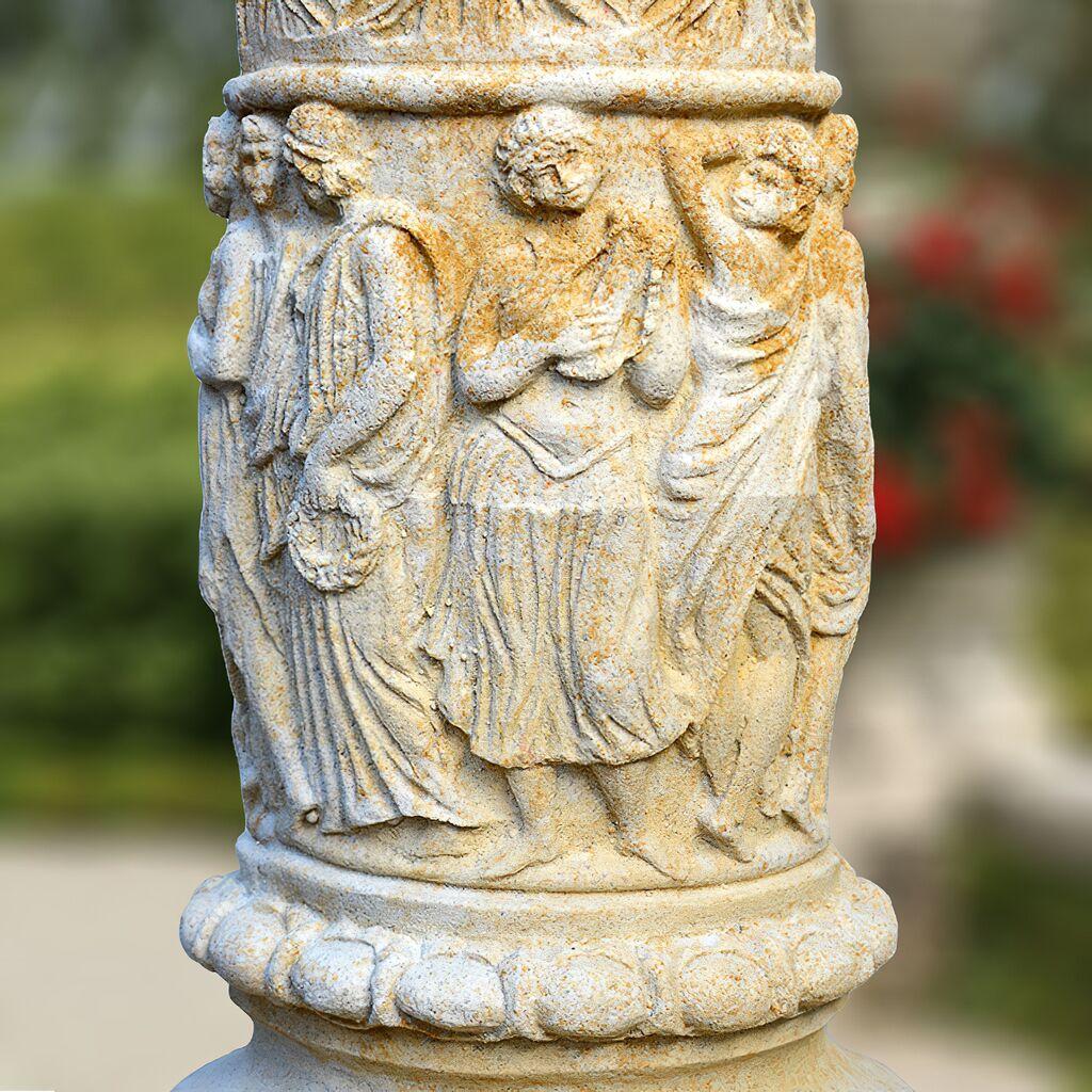 Kräuter Für Den Garten: Deko Stein Säule Für Den Garten