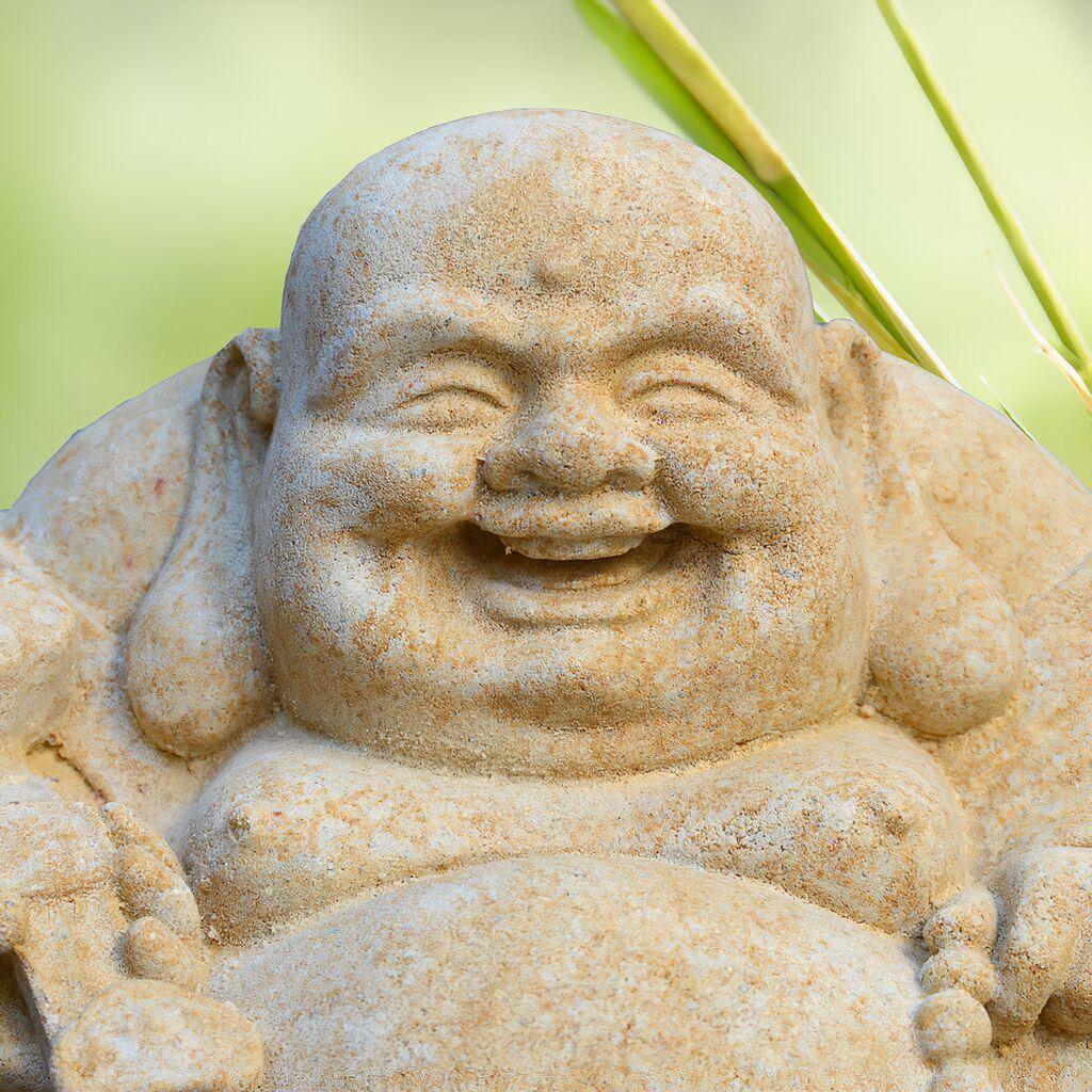 lachender buddha figur aus stein samanta. Black Bedroom Furniture Sets. Home Design Ideas