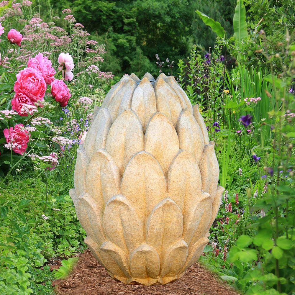 Große Garten Deko Pinie aus Stein Umbria