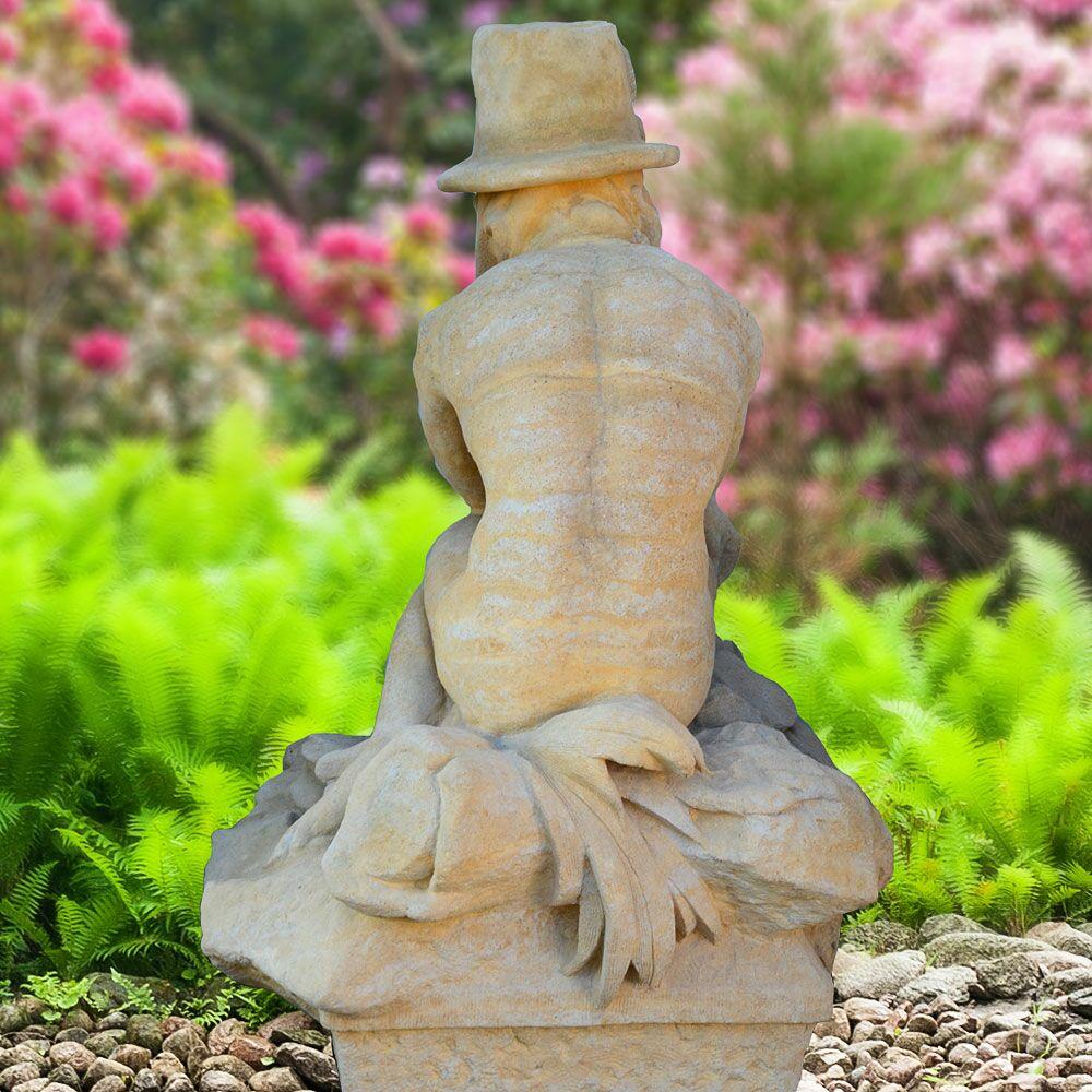 Gro e wassergeist steinskulptur p p crochet for Steinskulptur garten
