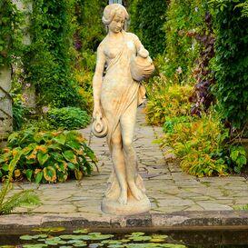 Gartenfigur aus Steinguss - Loraine