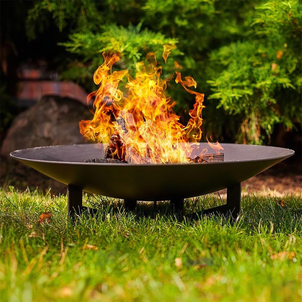 Runde Feuerstelle für den Garten aus Stahl - Dukla Feuerschale / Rost