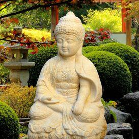 Buddha Figur aus Steinguss - Panna