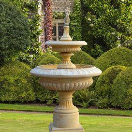 Gartenbrunnen aus Steinguss - Lanthenay