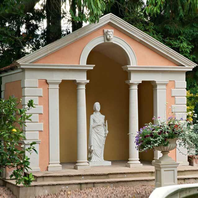 Garten Stein Pavillon mit Säulen / Terrakotta