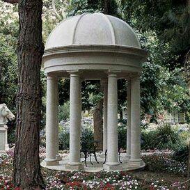 Steinguss Tempel Gartenpavillon - Villeneuve