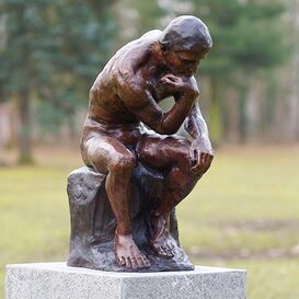"""Bronze Gartenfigur & Skulptur für den Garten - """"Le Penseur"""""""