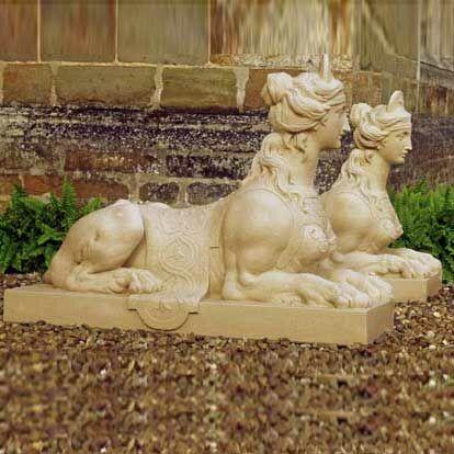gro e garten sphinx skulptur aus stein. Black Bedroom Furniture Sets. Home Design Ideas