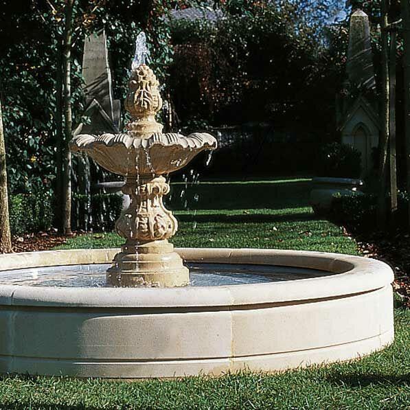 Garten Brunnen Umrandung Sandstein   Fontana Anni ...