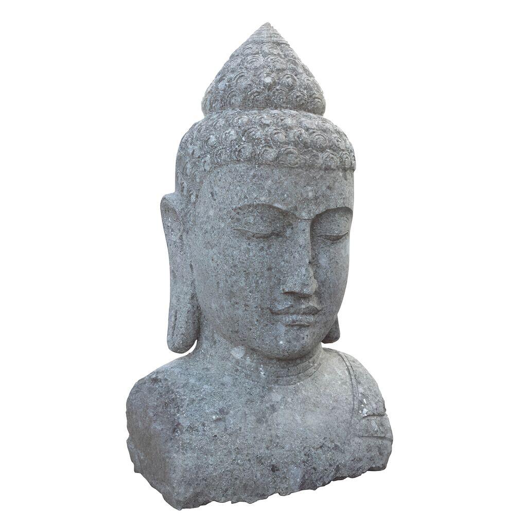 Großer Buddha Steinkopf - Shama   Gartentraum.de
