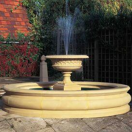 Brunnen Becken aus Steinguss - Bordatura
