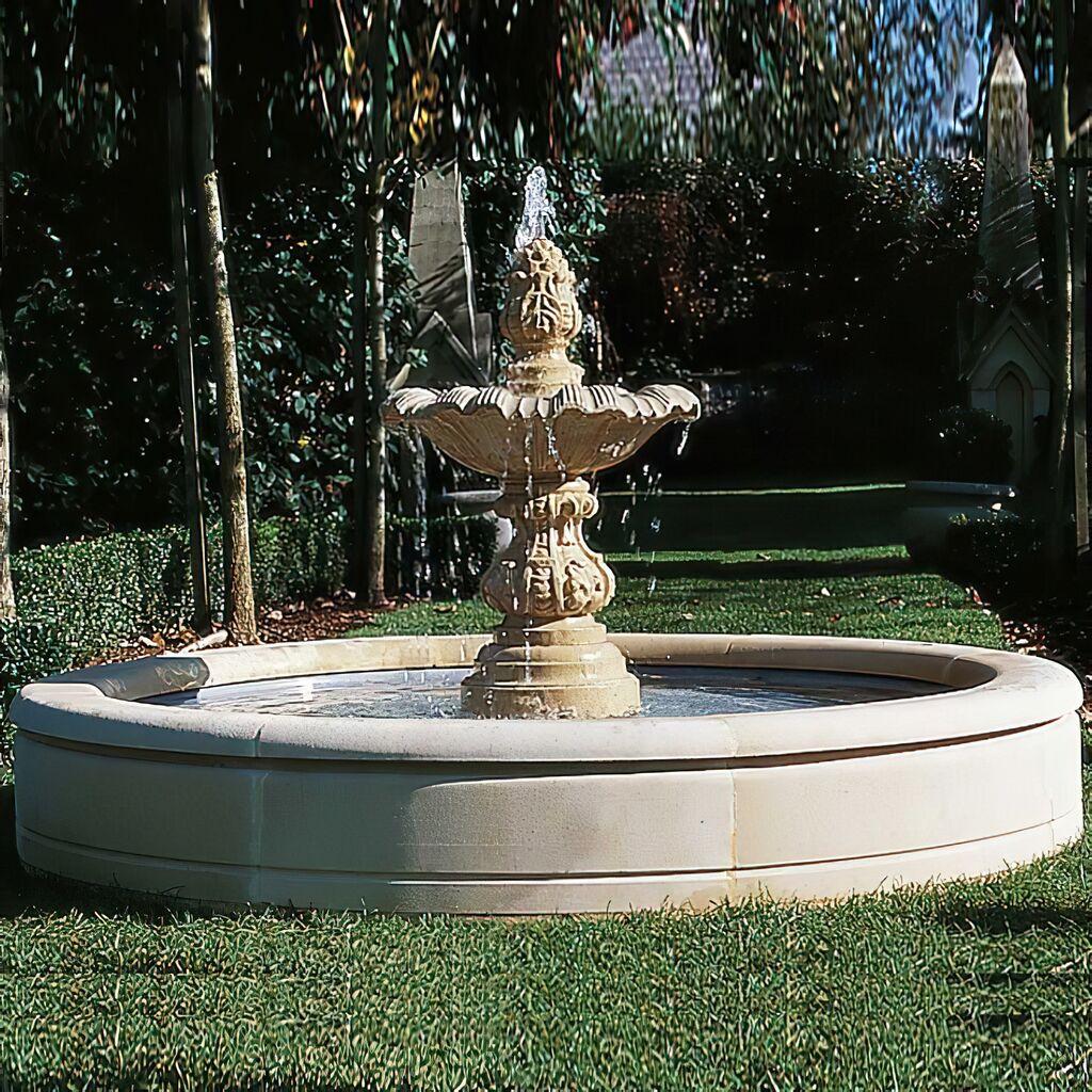 Gro er garten springbrunnen sandstein - Garten springbrunnen ...