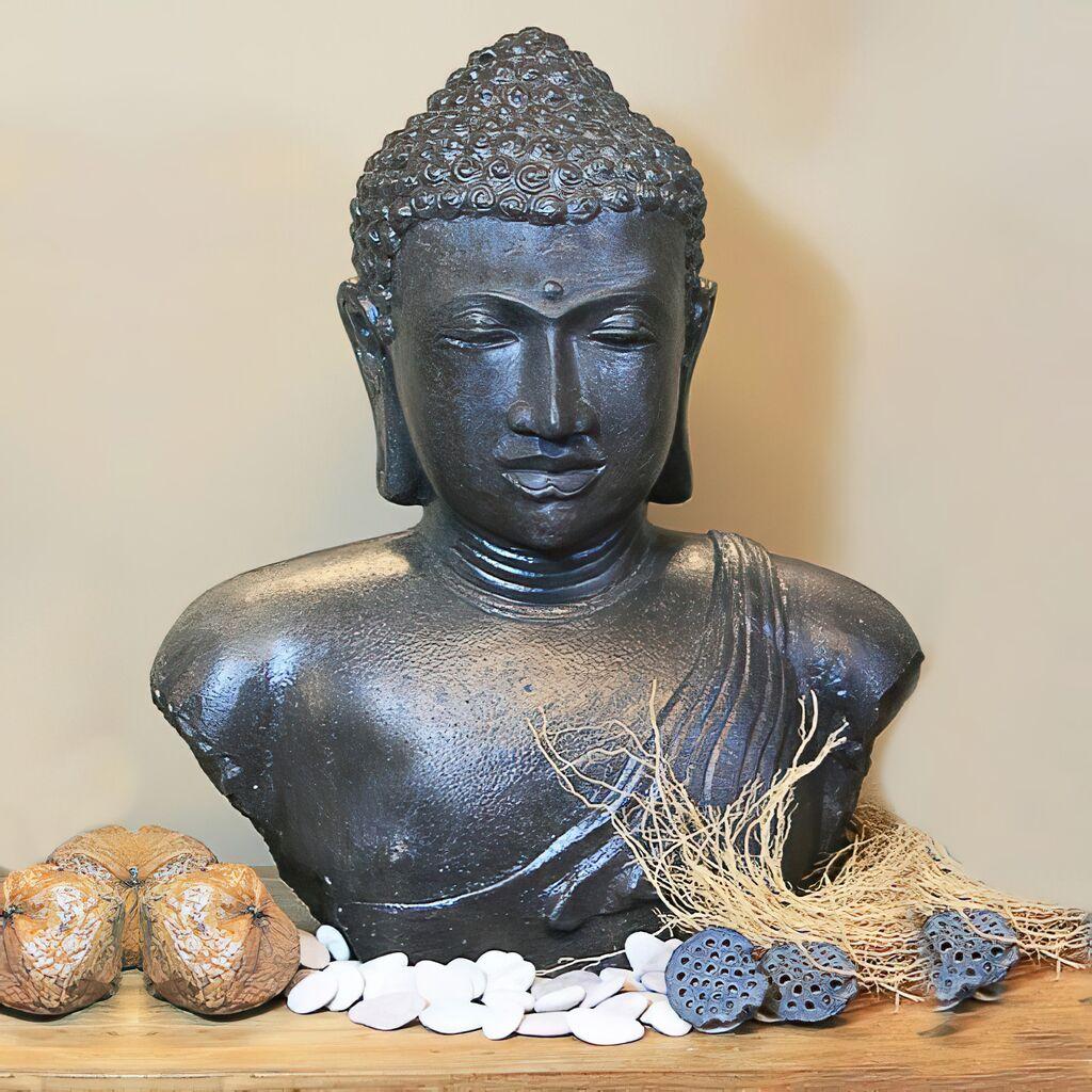 wertvoller buddha kopf chunni aus stein. Black Bedroom Furniture Sets. Home Design Ideas