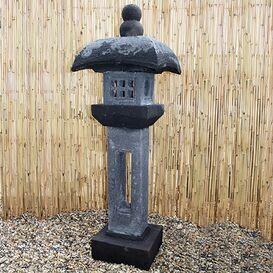"""Steinfigur """"Nanami"""" - Japanische Laterne für den Garten"""