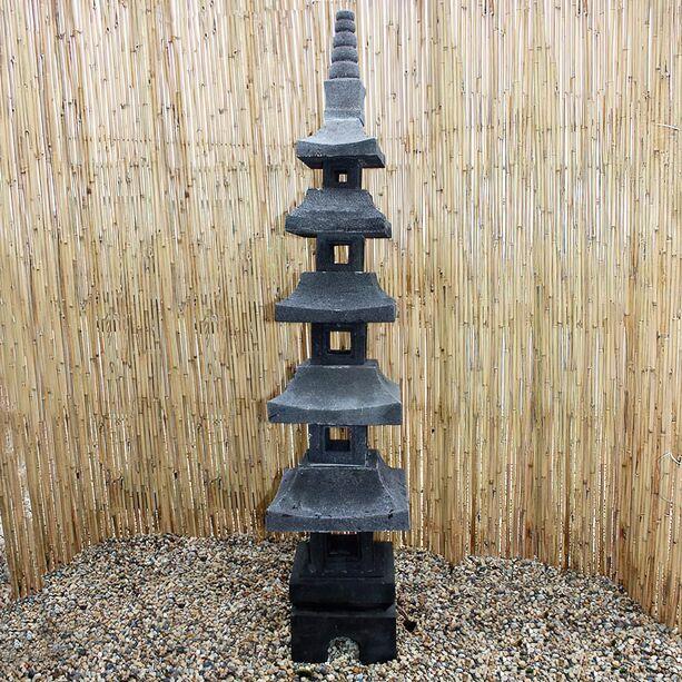 japanische deko steinleuchte lavastein unikat momoka. Black Bedroom Furniture Sets. Home Design Ideas