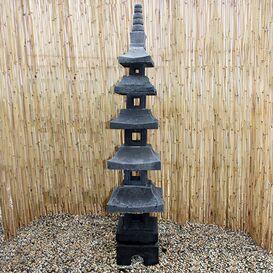"""Steinfigur """"Momoka"""" - Japanische Laterne für den Garten"""