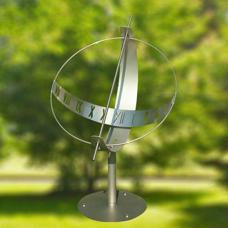 Edelstahl Globus Sonnenuhr - Sonnenuhr Globus