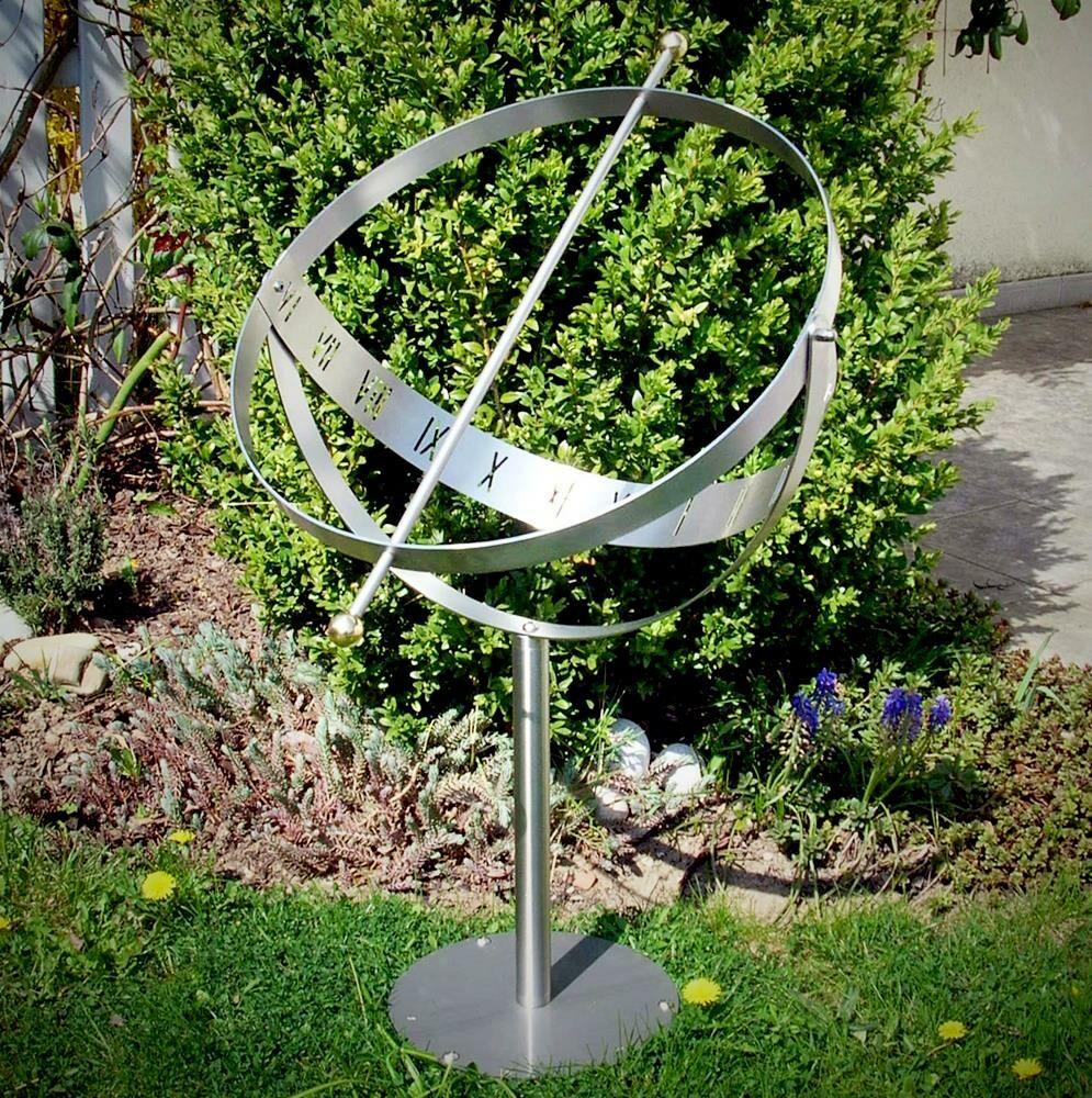 Elegante Sonnenuhr aus Edelstahl - Milenium-3 MS