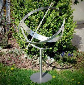 Edelstahl Sonnenuhr - Milenium-3 MS