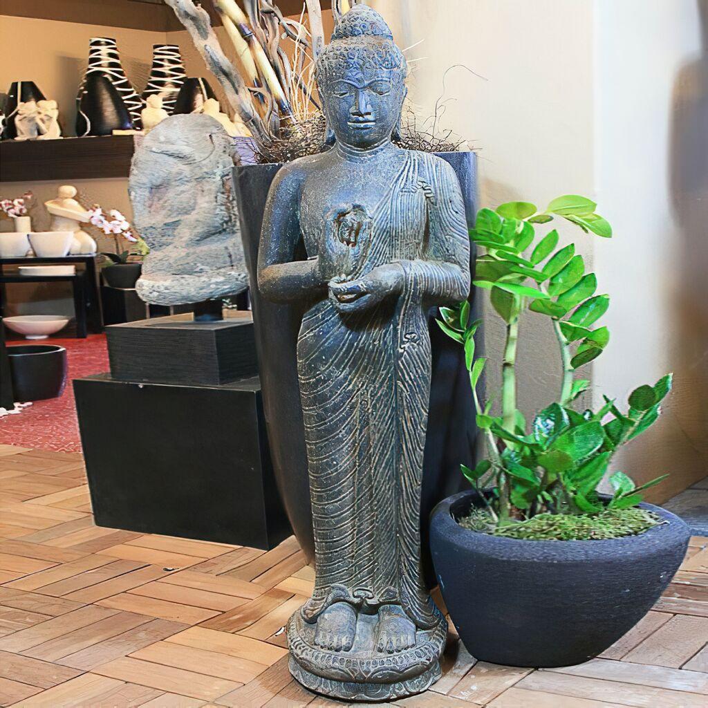 Gro e buddha steinfigur f r den garten tahankara - Buddha fur den garten ...