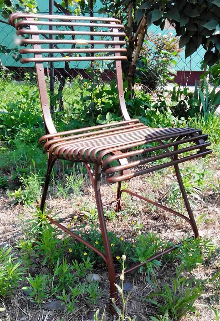 antik garten stuhl ambre aus eisen. Black Bedroom Furniture Sets. Home Design Ideas