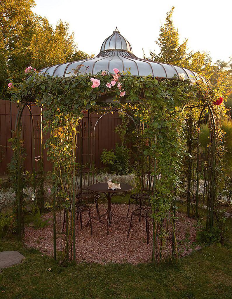 garten pavillon safia aus schmiedeeisen. Black Bedroom Furniture Sets. Home Design Ideas