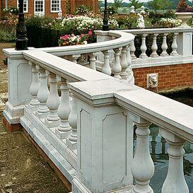 """Balustrade """"Antiguo"""" Geländer aus Steinguss in weiß, beige oder terrakotta"""