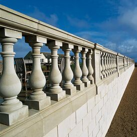 """Balustrade """"Solido"""" Geländer aus Steinguss in weiß, beige oder terrakotta"""