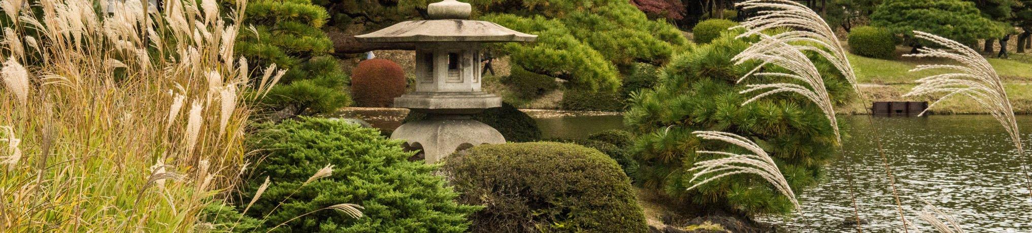 Japanische Stein Laternen